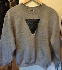 Vintage 80s NIKE Blue Tag Rayon Gray Color Sweatshirt. Size Small Made In USA.