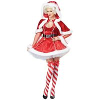 Sexy Santa Costume Adult Mrs Claus Christmas Outfit Fancy Dress