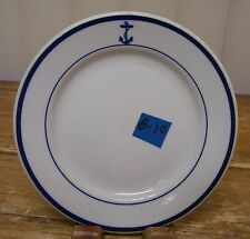 Buffalo US Navy Mess Wardroom Officer Salad Plate Blue Anchor Vintage B10