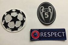 UEFA Champions League patch kit- FC Brcelona, Bayern Munich jerseys - BLK