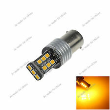 1X Yellow 1156  Ba15s 15 SMD 2835 LED 12-24V Canbus Error Free Rear Light D086