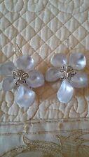 Alexis Bittar Jardin Mystere Flower White Earrings