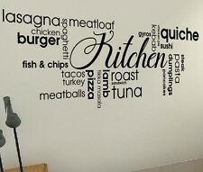 Kitchen Food Pizza Drink Quotes wall vinyl decals stickers Art Wall Graphics