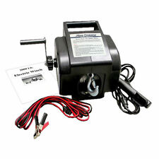 12V 2000 lb ELECTRIC PORTABLE TRAILER RECOVERY WINCH ATV/BOAT/TRUCK- FIVE OCEANS