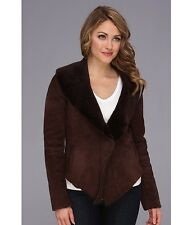 NWT! HTF! UGG Australia Nettafay Shearling Coat Retails at $1200+tax. Dark Brown
