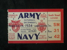 Vintage 1934 Army vs Navy Ticket Stub Franklin Field