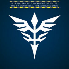 (2x) Neo Zeon Insignia Sticker Die Cut Decal Self Adhesive Vinyl Gundam Unicorn