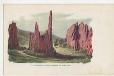 USA, Cathedral Spires, Garden of The Gods Early Embossed Postcard, B241