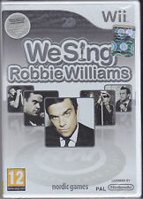 Nintendo Wii **WE SING ROBBIE WILLIAMS** nuovo import Pal