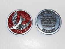 """CONFIRMED IN CHRIST Enamel Sparkle Token Christian Religious Gift 1 1/4"""" Coin"""