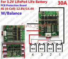 4S 30A 3.2V LiFePo4 LiFe 18650 Battery Cell PCB Protection Balance Board 12.8V