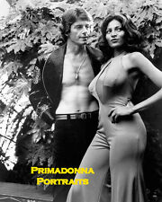 "PAM GRIER & PETER BROWN 8X10 Lab Photo B&W Portrait 1974 film ""FOXY BROWN"""