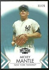 MICKEY MANTLE, 2012 Topps Triple Threads #7 Sapphire Blue Parallel /25 Yankees