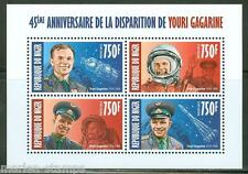 NIGER 2013  45th MEMORIAL ANNIVERSARY YURI GAGARIN  SHEET OF FOUR MINT NH