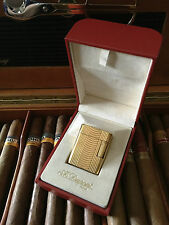 S.T. Dupont Accendino SOUBRENY, Golden, molto bella stato; Full Set Incl. BOX