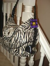 Mischa Barton label handbag (zebra pattern) - new with tags