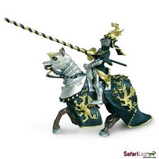 Black and Gold Knight w/ Horse Quality PVC Figurine Hand Painted Safari S62030-5