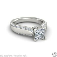 1.75CT PRINCESS CUT DIAMOND SOLITAIRE ENGAGEMENT RING SOLID IN 14 CARAT GOLD