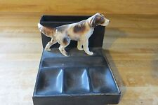 setter dog display trinkets coins stamps food unknown pipe holder hand painted
