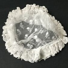 Bonnet Ancien En Dentelle Coiffe Antique French Lace Woman Bonnet