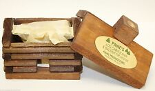 """small LOG CABIN INCENSE BURNER 2.5""""x3.5"""" with 10 balsam fir logs Paine's"""