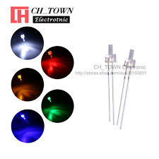 250Pcs 5Lights 2mm Flat Top Water Clear LED Diodes White Red Blue Mix Kits