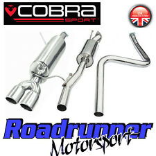 "FD61 cobra Fiesta MK7 1.6 Sistema De Escape De Acero Inoxidable 2"" Gato Back-no-Flex tipo"