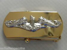 "USN Submarine Insignia CPO 3"" Belt Buckle Force Service SSN SSBN USS"