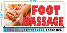 Full Color FOOT MASSAGE All Weather Banner Sign NEW High Quality! XXL Parlor Spa