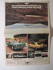 1974 Chevorlet Cars Pull Out Color Ad!  Monte Carlo, Nova, Camaro, Vega, Caprice
