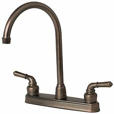 RV/Mobile Home Classic High Arc Swivel Kitchen Faucet Brushed Bronze Finish