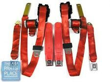 1978-81 Chevrolet Camaro / Pontiac Firebird Factory Seat Belt Set - Flame Red