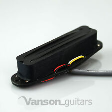 NEW Vanson Hot Rail Humbucker, Single Coil Size Pickup for Strat®* guitars BK/BK