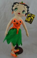 Betty Boop Plush With Tags and Stand Halloween Pumpkin Betty 15 1/2""