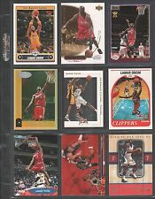 LAMAR ODOM ~ Lot of (9) Different Basketball Cards w/ Display Sheet ~ (L20)