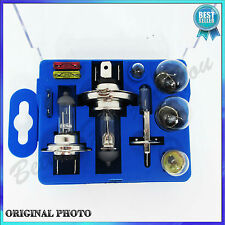 UNIVERSAL EMERGENCY CAR BULB AND FUSE KIT SET - 10 PIECE TOP QUALITY NEW