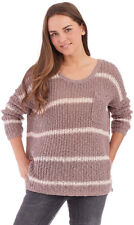 Free People Striped Loose Knit Sweater Taupe Cream size S $98 Nd1