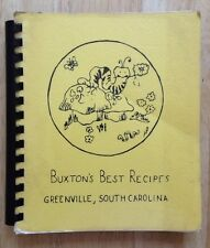 1976 BUXTON BEAUTIFICATION CLUB COOKBOOK, BUXTON'S BEST RECIPES, GREENVILLE, SC