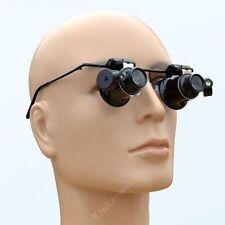 20 Fach Vergrößerungsglas Lupenbrille Lupe Theater Glass Loupe Mit LED Licht Neu