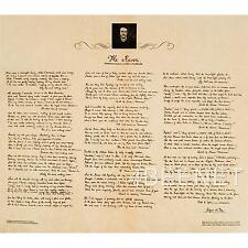 EDGAR ALLEN POE manuscript reproduction THE RAVEN rolled parchment poster NEW