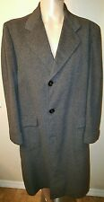 CROMBIE CASHMERE SCOTTISH TRENCH COAT MENS L