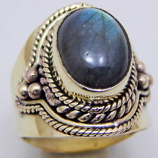 Wonderful Labradorite Gold Plated Handmade Jewelry Vintage Style Ring Us Size 7'