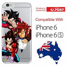 iPhone 6 6S Soft Jelly Case Cover Dragon Ball Z DBZ Vegeta Goku Gogeta SS4 Ape