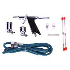 KKMOON Silver + Black Pistol Trigger Airbrush Kit For Hobby Paint Craft UK P3O1