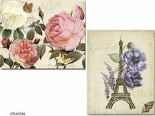 NeW! XL VinTaGe FrencH FLoRaL PosTcaRdS SHaBbY WaTerSLiDe DeCALs~FuRNiTuRe SiZe~