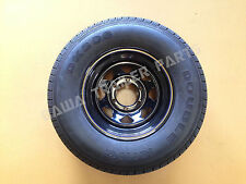 "SUNRAYSIA BLACK 15"" - 6 STUD LANDCRUISER WITH 235R15 LT TYRE ! Trailer Parts"