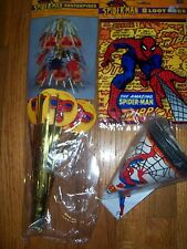 3pc Lot Unique Amazing Spiderman Birthday Party Goods Multi-color NOS