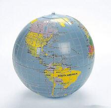 3 Inflatable World Globes Teacher aid Educational EARTH MAP Beach ball