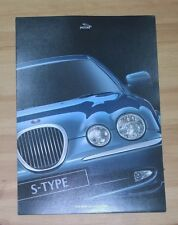 Jaguar S-Type 1998-99 UK Market Launch Foldout Sales Brochure 3.0 V6 SE 4.0 V8
