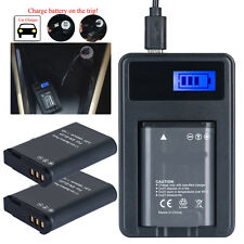 2X EN-EL23 Battery + USB Charger for Nikon Coolpix P600 S810c P900s P900
